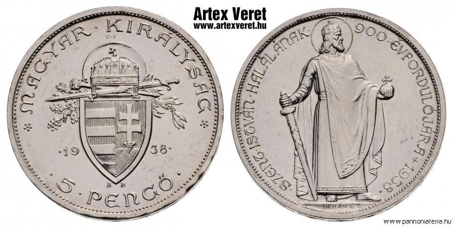 http://www.artexveret.hu/pengo-artex-utanveret/www_artexveret_hu_ezust_allo_szent-istvan_1938_up-felul_artex_utanveret_5_pengo.jpg